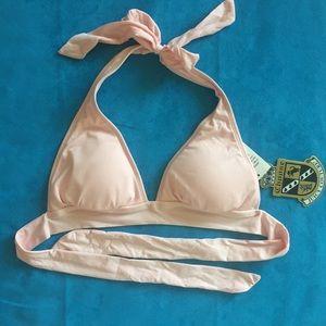 NWT Pale Pink Juicy Couture Bikini Top